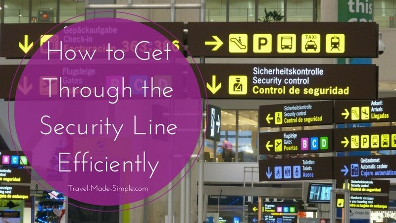How to Get Through the Security Line Efficiently