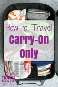 Carry-on only is a great way to travel. It can save money, you'll have less stuff to lug around, and no worries about lost luggage. Here's how to do it! #packing #traveltips #carryon