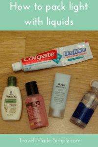 Packing liquids can be a big challenge when traveling carry-on only. Know how much you use, buy travel sizes and restock on the road to avoid checking bags. carry on liquid allowance | tsa carry on liquid rules | carry on liquids | hand luggage liquids | carry on liquid size #packing #packingtips #traveltips #travelhacks