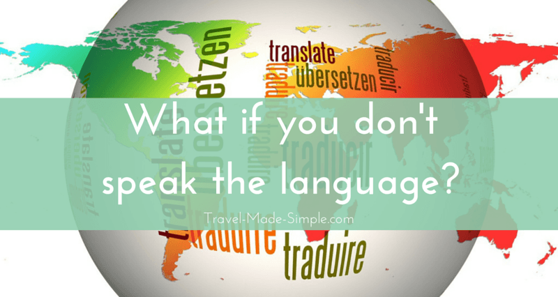 fear of not speaking the language
