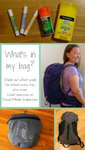 travel resources - what's in my bag