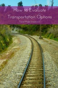 evaluating transportation options