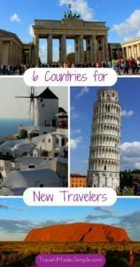 6 countries for new travelers