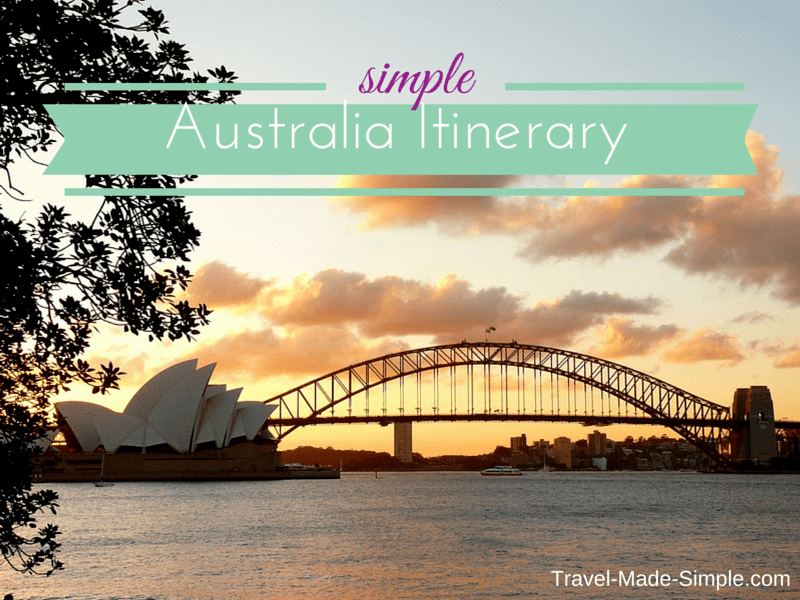 Simple Australia Itinerary