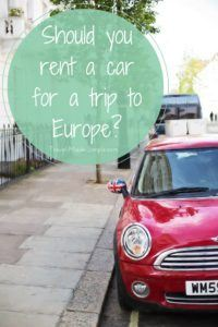 So You Think You Want to Rent a Car
