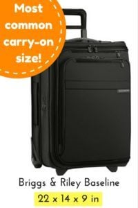 favorite luggage for carry-on travel - briggs riley
