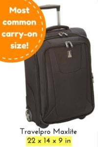 favorite luggage for carry-on travel - travelpro