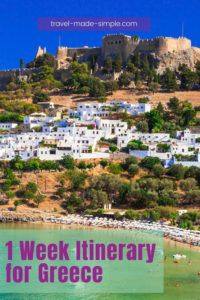 From Athens to Meteora, Santorini to Rhodes, there are so many great places to see in Greece. Read our 1 week itinerary for Greece to start planning your trip. one week in Greece | two weeks in Greece | travel to Greece | Greece travel planning tips