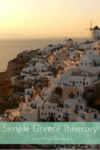 Simple Greece Itinerary