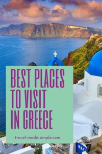 If you only have one week in Greece, you want to include the best places to visit on your Greece itinerary. Read our recommendations and start planning your trip to Greece. one week in Greece | two weeks in Greece | travel to Greece | Greece travel planning tips