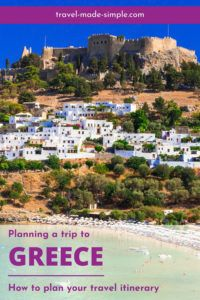 Are you planning a trip to Greece? We've put together our best tips for planning a Greece itinerary here to help you have an enjoyable trip. one week in Greece | two weeks in Greece | travel to Greece | Greece travel planning tips