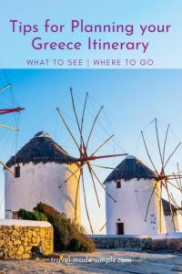 These tips for planning a trip to Greece will help you decide where to go and what to see on your Greece itinerary. Our guide is helpful whether you have one week in Greece or more time to see this gorgeous country. one week in Greece | two weeks in Greece | travel to Greece | Greece travel planning tips