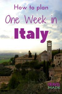 How to plan one week in Italy - simple Italy itinerary