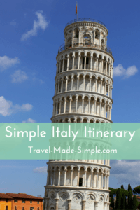 Simple Italy Itinerary