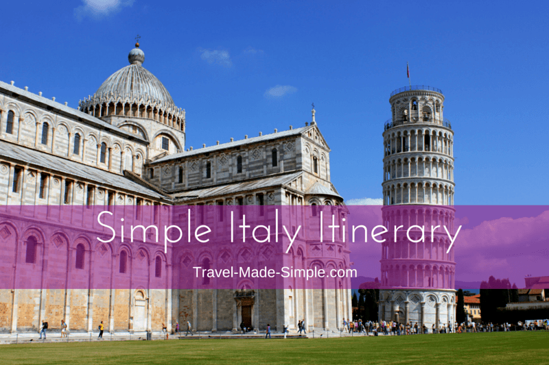 Simple Italy Itinerary - ideas for planning one week in Italy