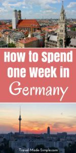 When planning your Germany itinerary, pick a few of the highlights and don't rush. Take in Germany's scenery, food, culture and history one piece at a time. Here are some ideas for how to spend one week in Germany. #germany #germanyitinerary #germanytravelplanning #travelplanning #berlin #hamburg #munich
