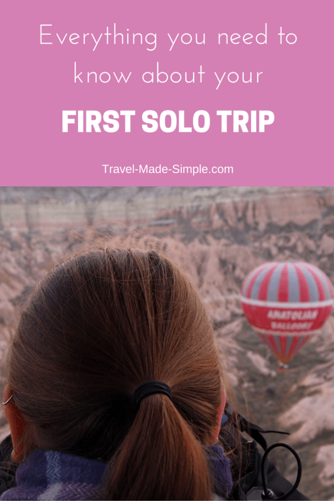taking your first solo trip