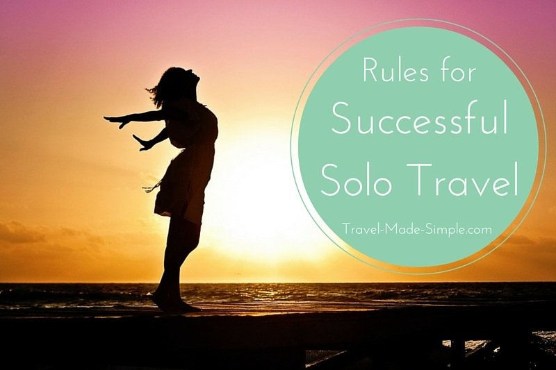 Rules for successful solo travel