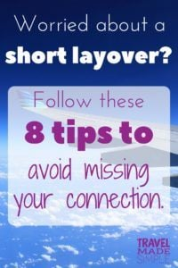 How to handle a short layover like a pro: What should you do if you think your layover is too short? Here are 8 things that can help reduce your chances of missing your connecting flight. #traveltips #travelhacks #layover