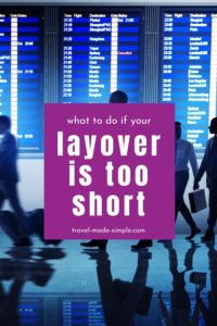 Short layovers can be super stressful. But there are things you can do to increase your chances of making it to your connecting flight. Read this post to learn what to do if your layover is too short. | travel tips | flight tips | travel planning | travel hacks