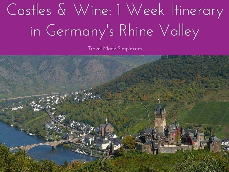 1 week itinerary in the Rhine Valley Germany
