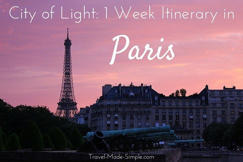 1 week itinerary in Paris