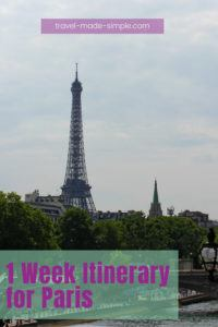 Do you dream of seeing the Eiffel Tower in person? Paris is at the top of many travel wish lists, and for good reason. Check out our 1 week itinerary in Paris loaded with tips to guide you through the vacation of a lifetime. | Paris itinerary | Paris vacation | Paris travel tips | things to do in Paris | how to plan a trip to Paris