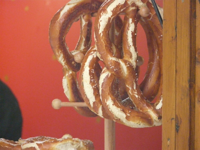 food and beer in Munich - Pretzels