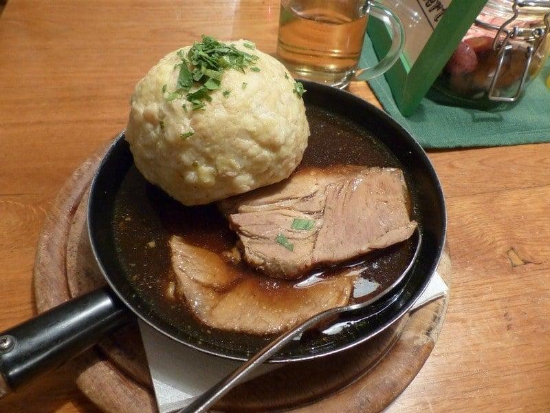 food and beer in Munich - Schweine Braten