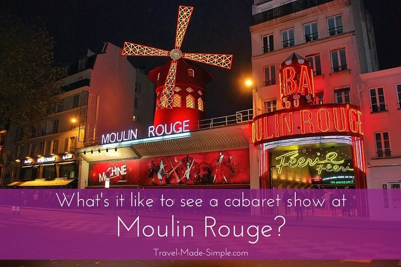 Enjoying a Cabaret Show at the Moulin Rouge