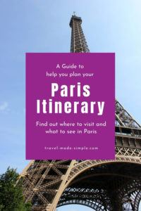 Our guide to planning your Paris itinerary is packed with tons of tips to help you have the best Paris vacation possible. You'll learn what attractions to see, what tours we recommend, and much more. | Paris itinerary | Paris vacation | Paris travel tips | things to do in Paris | how to plan a trip to Paris