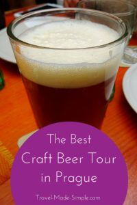 During a recent trip to Prague, we decided to book a few tours. The Prague craft beer tour was so much fun and one of the best things we did.  #prague #cz #czechrepublic #czechia #beer #traveltips