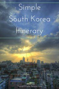 Simple South Korea Itinerary