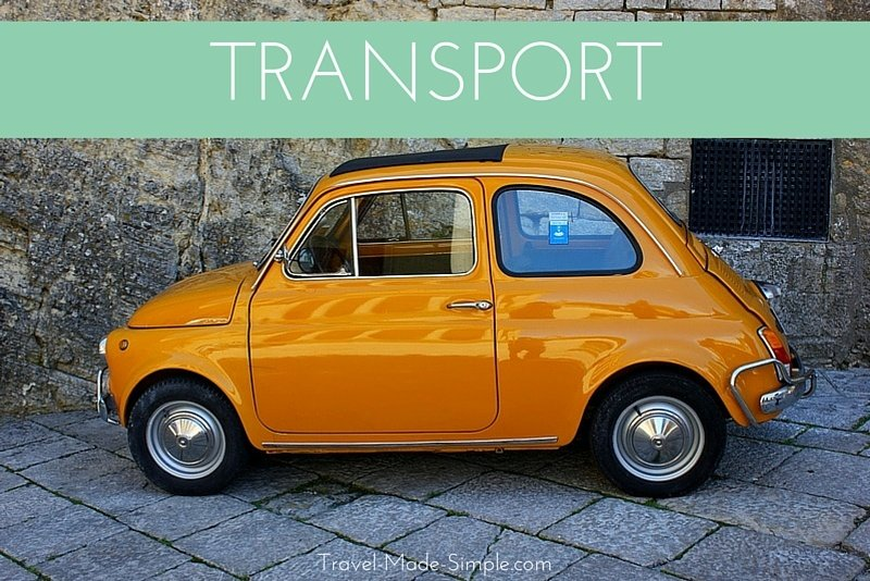 The transport section covers everything about planning transportation for your vacation: layovers, cars, buses, trains, and more.