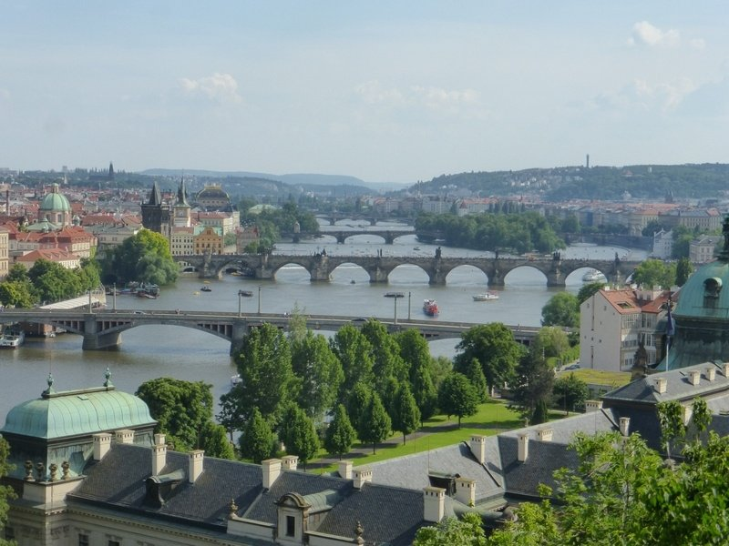 Prague from above: View From Metronome Hill in Prague