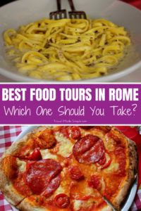 We've taken 2 of the best food tours in Rome. Food tours are a great way to learn about the cuisine when you travel, especially in Italy. Here's a look at two food tours we've taken in Rome to help you decide which one is right for you. #rome #italy #foodtours #traveltips