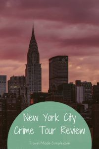 Looking for something unique and interesting to do in New York City? Check out this review of the New York crime tour with Take Walks. #traveltips #nyc #newyorkcity #usa