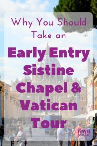 The Vatican is a popular attraction in Rome. Want to know how to get into the Sistine Chapel ahead of the crowds? In our early entry Sistine Chapel and Vatican tour review, learn why getting in early is so important. #vatican #rome #italy #traveltips