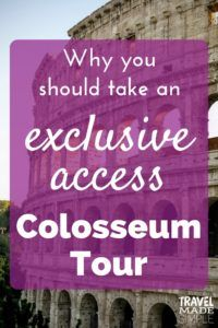 exclusive access Colosseum tour