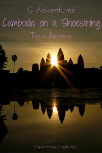 For Sally's first trip to Southeast Asia, she booked a tour to ease her worries. Read about her travel experiences in her G Adventures Cambodia tour review. #cambodia #traveltips