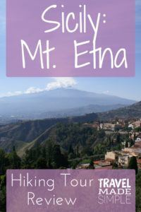 Mt. Etna hiking tour Sicily