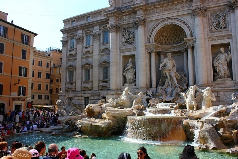 3 days in Rome itinerary Trevi Fountain