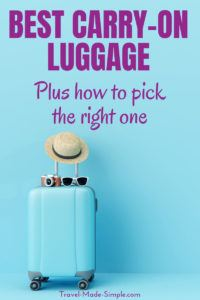 Picking the best carry-on luggage can be overwhelming with so many choices. Here's what to look for in a bag and how to choose the best carry-on size luggage, whether it's a suitcase, a backpack or a hybrid. | packing tips | carry-on travel | flying carry-on only | best carry-on luggage | best rolling carry on luggage | best carry on backpack #traveltips #travelhacks #packingtips #luggage #suitcase #backpack #carryon