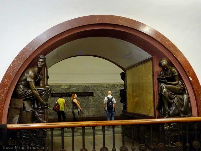 Moscow to St Petersburg cruise review - Moscow metro tour