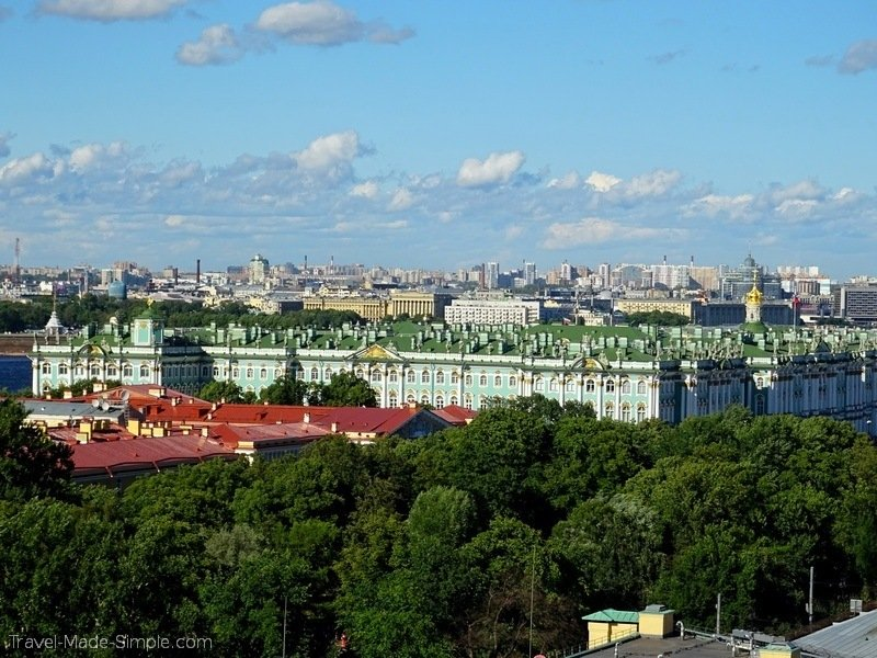 Moscow to St Petersburg cruise review - St Petersburg St Isaac Cathedral view