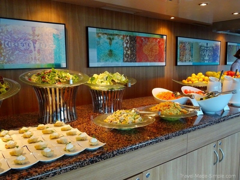 Viking Russia river cruise buffet