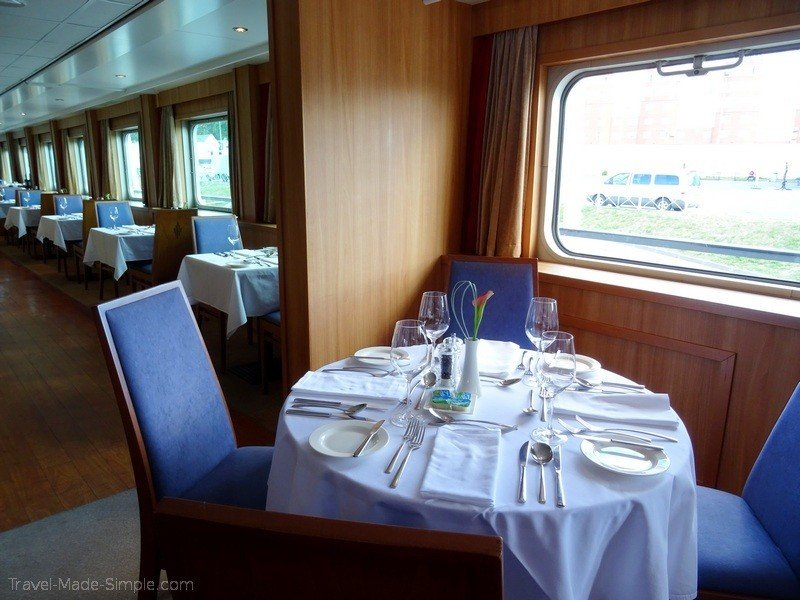 Viking Russia river cruise dining room