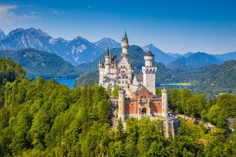 Neuschwanstein Castle in Germany - travel budget example