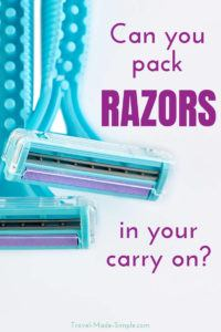 Can you bring a razor on a plane? The answer depends on the type of razor you want to take with you since only certain kinds are allowed in carry on luggage. #razor #shaver #shaving #packingtips #traveltips