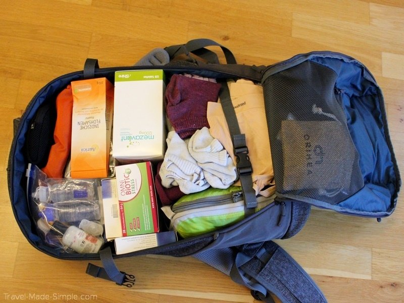 Arcido backpack review Akra 35L packed up